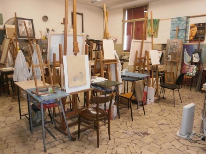 Laboratorio pittura - Scuola di Artigianato Artistico del Centopievese