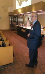 Il Rettore Maestro Chef Gualtiero Marchesi durante una lezione- 11 luglio 2014