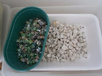 Tessere in marmo per mosaico- Laboratorio di Greta Guberti