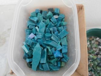 Tessere in vetro Vichy per mosaico- Laboratorio di Greta Guberti
