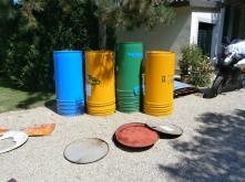 bidoni d'olio usati - Vibrazioni Art Design