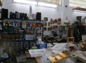 Il laboratorio, particolari - Mangiafuoco officina d'arte e artigianato - Ravenna