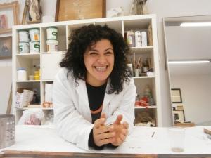 Cristina Lusvardi restauratrice pittorica presso Laboratorio di Restauro e Conservazione Opere d'Arte Reggio Emilia