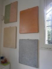 Prototipi di Tadelakt - Cristina Lusvardi restauratrice pittorica presso Laboratorio di Restauro e Conservazione Opere d'Arte Reggio Emilia