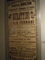 Manifesto spettacoli Compagnia Ferrari - Castello dei Burattini di PR