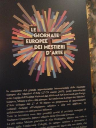Giornate Europee dei mestieri d'arte - Fondazione Cologni Mestieri d'arte- Milano
