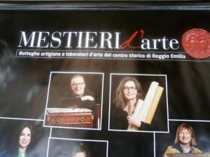 Mestieri d'arte - manifesto mostra a Reggio Emilia aprile 2015