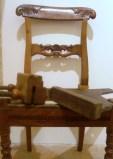 Sedia recuperata con restauro ligneo