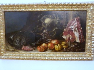 Bartolomeo Arbotori (PC 1594-1676), Tacchino carne frutta e verdura - Mostra Il gusto della Contaminazione - MO - 28 maggio- 19 luglio 2015
