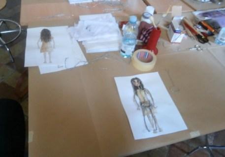 Bozzetti di pupazzi degli allievi del Corso di Stop Motion , edizione 2015, Summer School - Ars in fabula - Macerata, con Stefano Bessoni