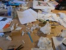 Preparazione scheletro del progetto di pupazzo- Corso di Stop Motion - Summer School Ars in Fabula - Macerata - luglio 2015