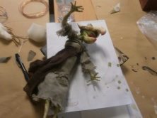 I pupazzi terminati al corso di Stop Motion- Summer School Ars in Fabula- Macerata- luglio 2015 con S.Bessoni