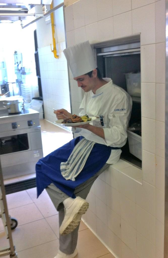 Pausa pranzo alle 14 in cucina  - Summer School 2015 di Alma La Scuola di Cucina