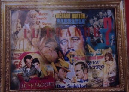 Quadro collage di manifesti film di Aldo