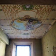 soffitti affrescati nelle stanze del teatro